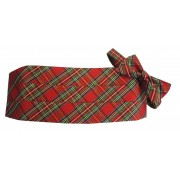 Red Stewart Christmas Holiday Tartan Plaid Cummerbund and Bow Tie